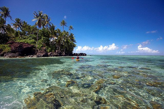 Kayaking in Taveuni, Fiji