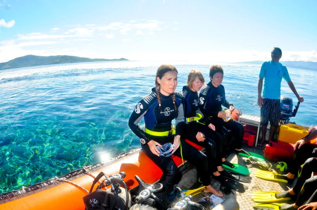 Diving on Fiji Taveuni