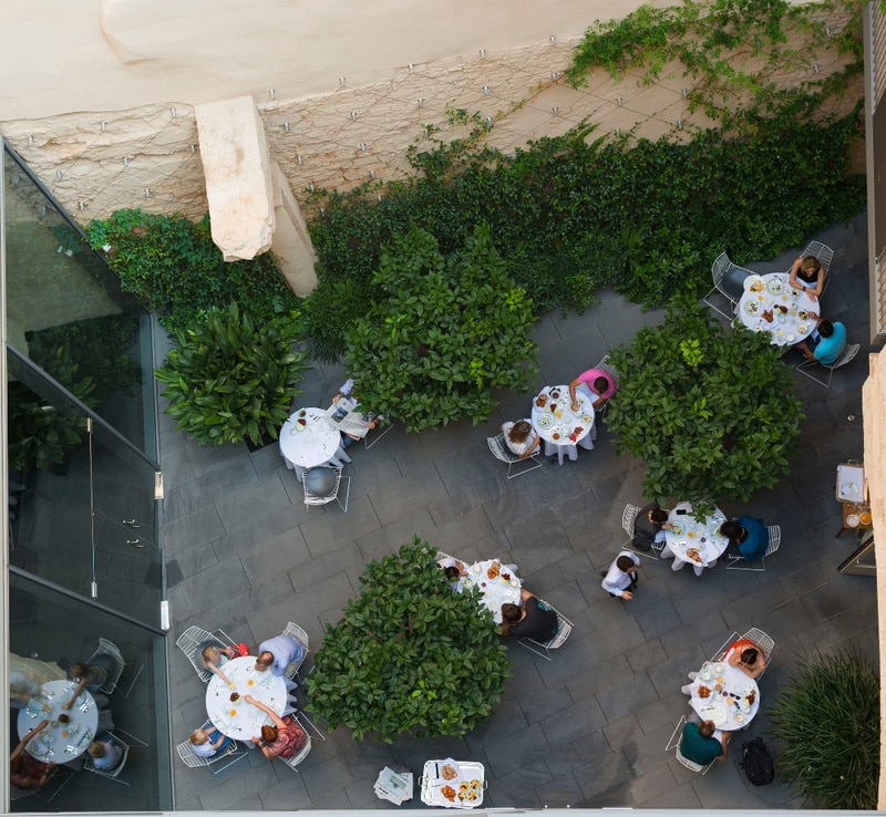The patio from above the Mercer Hotel Barcelona