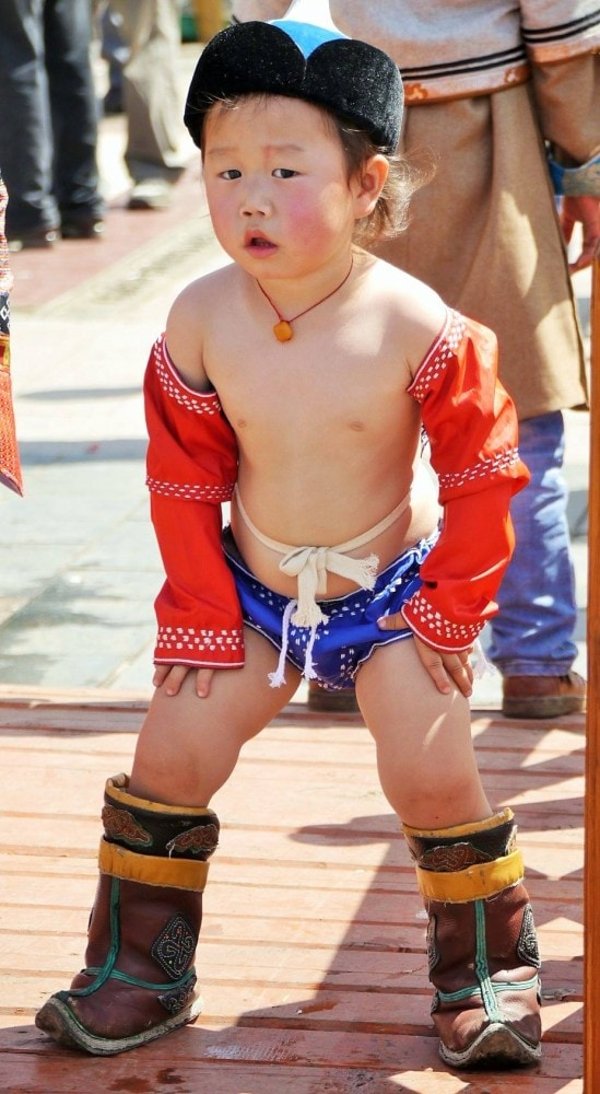 A little warrior in Mongolia
