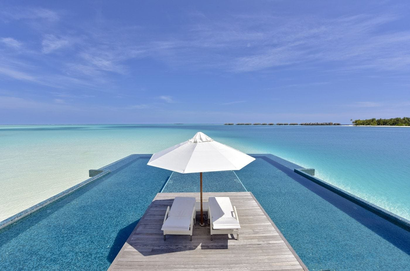 The infinity pool at conrad maldives