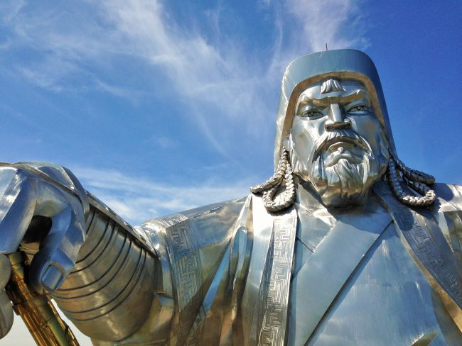 Close up of Genghis Khan's Fighter's Stare