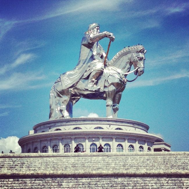 Giant Genghis Khan Equestrian Statue in Mongolia