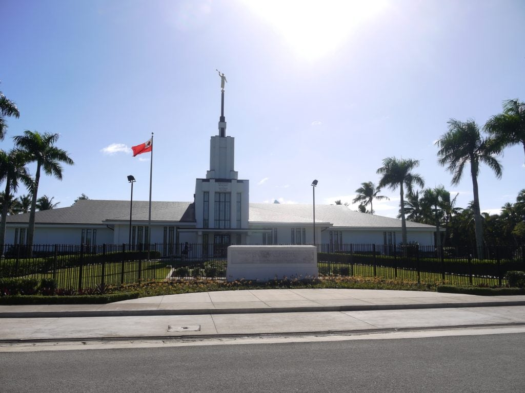 One of the many Mormon churches in Tonga in Nuku'alofa
