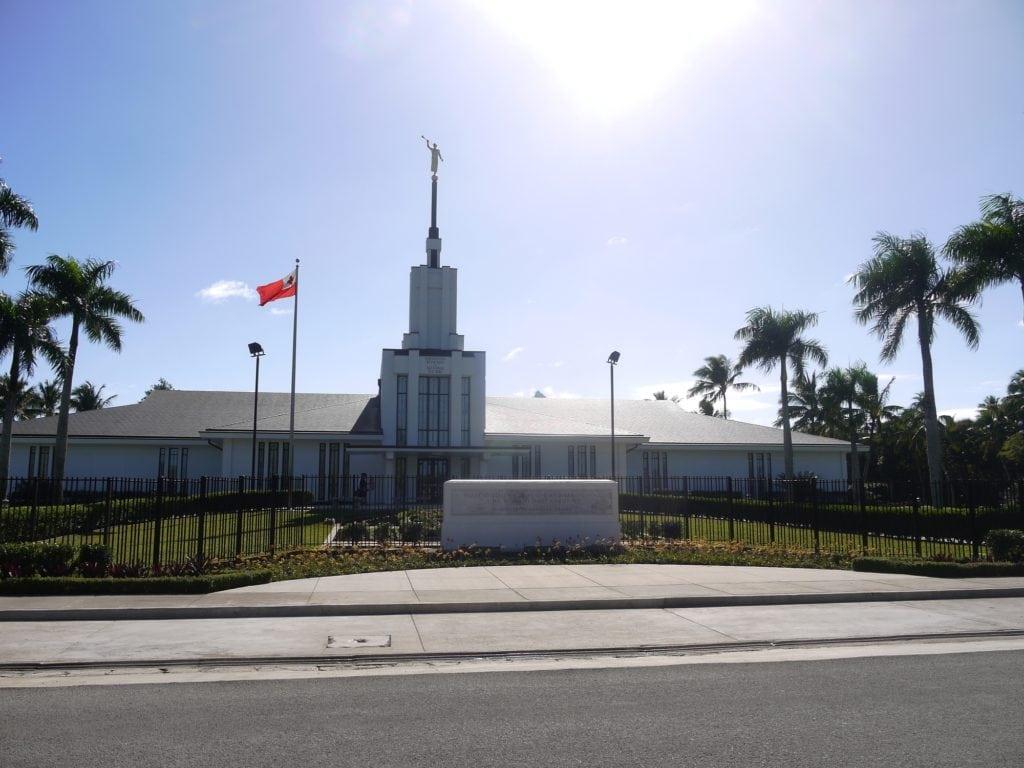 One of the many Mormon churches in Tonga in Nuku'alofa