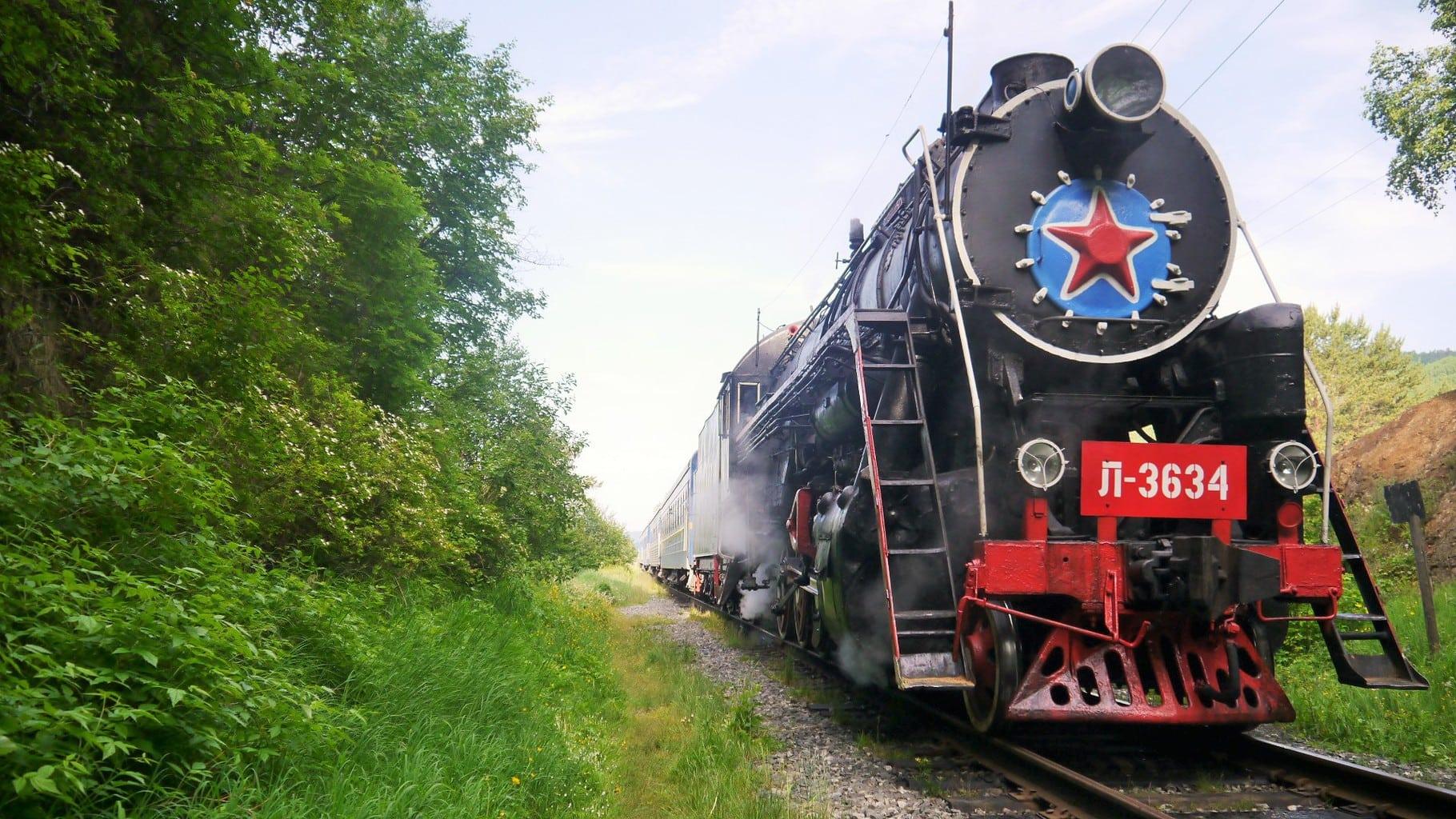 The Trans Siberian train