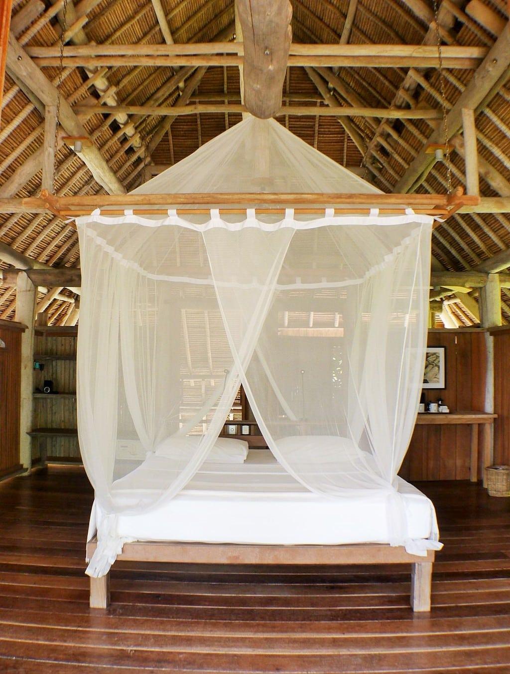 The bed at Nikoi Island