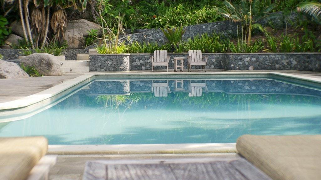 The pool at Nikoi Island Resort