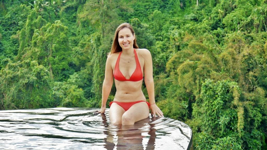 Infinity pool in Ubud's Hanging Gardens