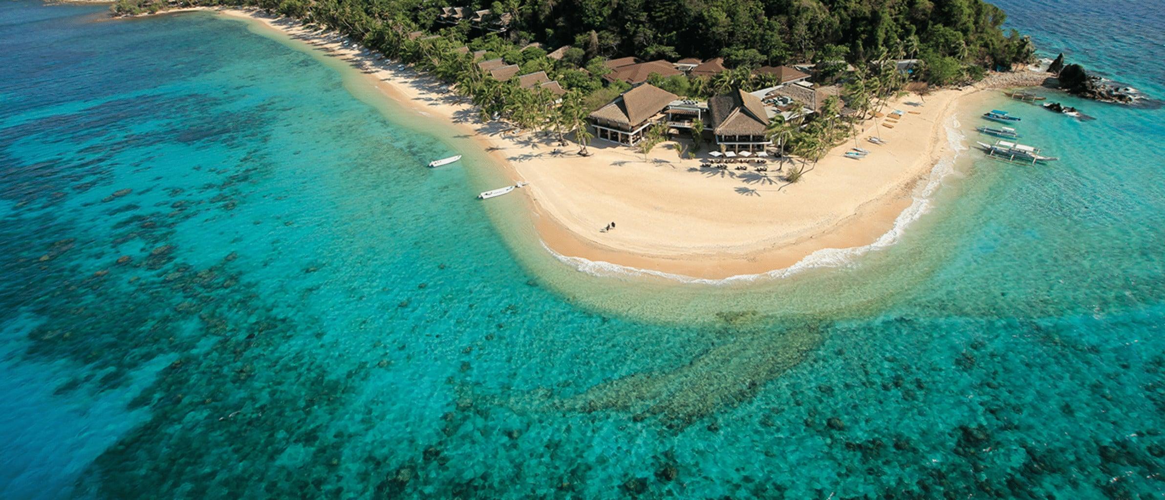 Pangulasian Island aerial view