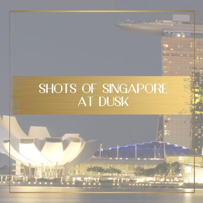 Singapore at dusk feature