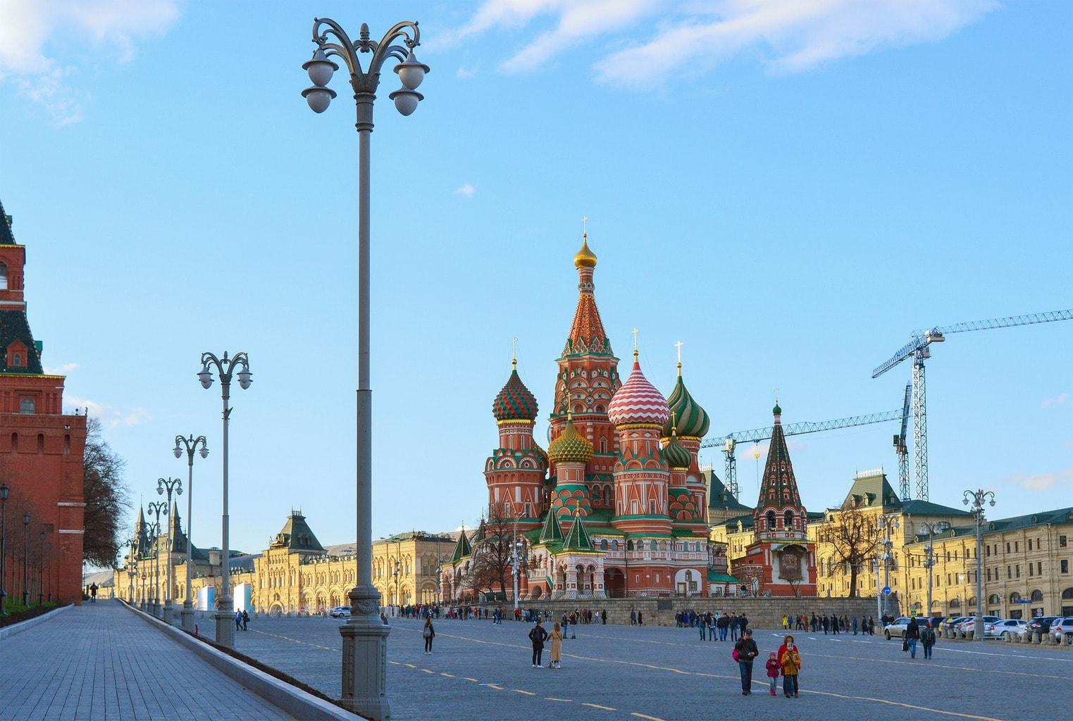 visit Moscow and the St Basil's Cathedral