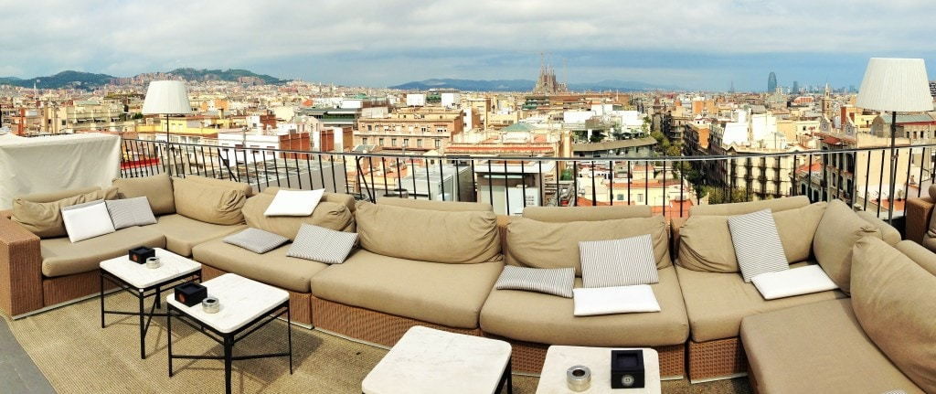 Majestic Hotel rooftop terrace views