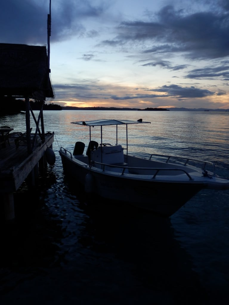 Sunset at Gizo