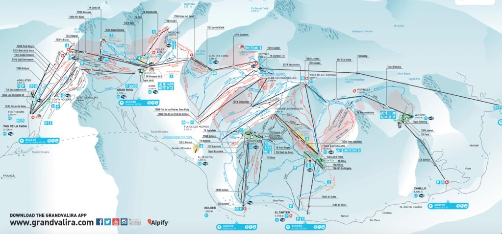 Grandvalira map