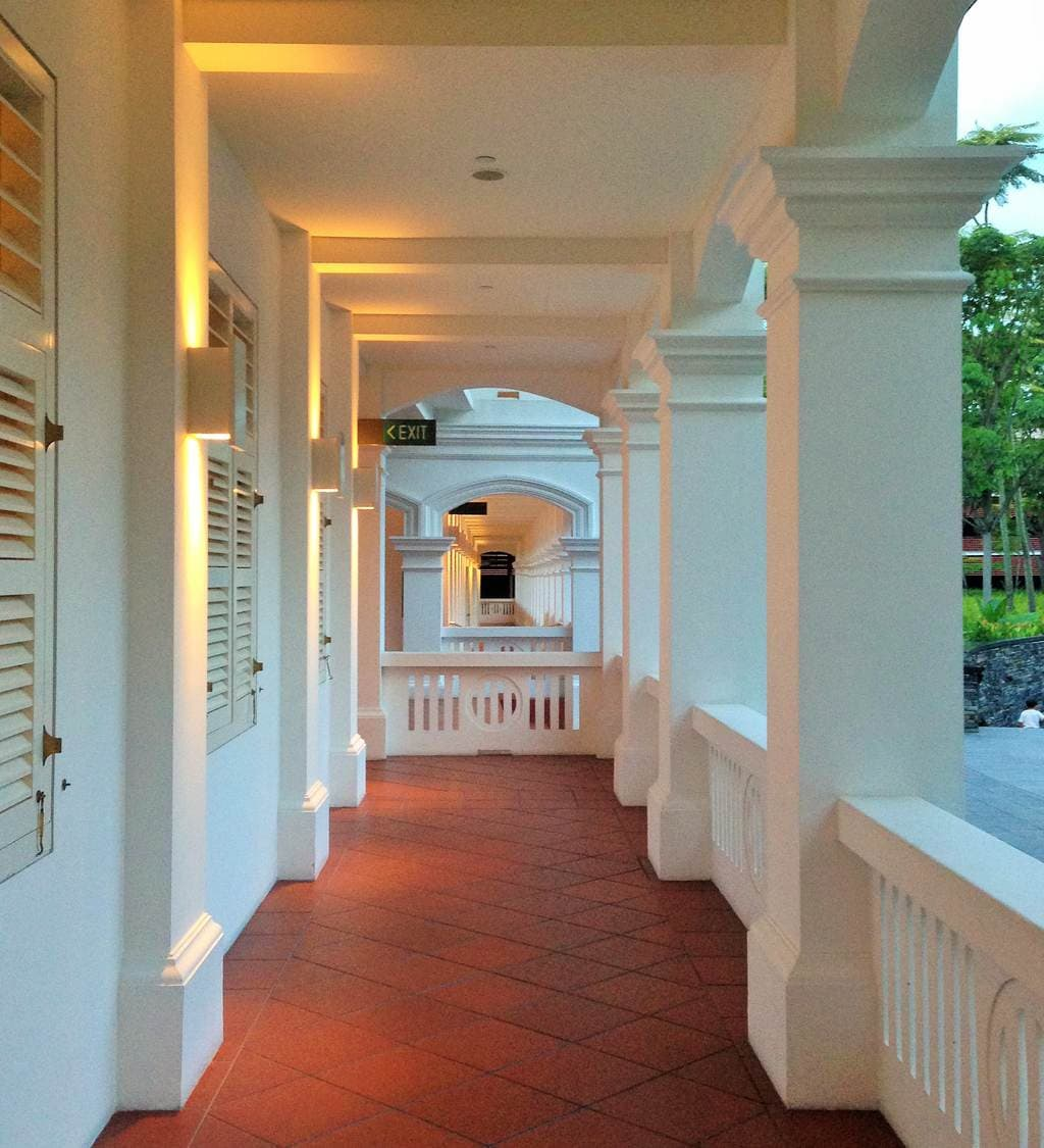 Colonial colonade at the Capella Singapore Sentosa Island