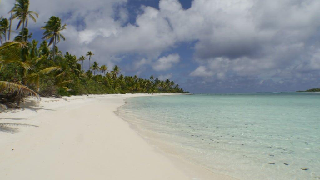 Desolate beach at One Foot Island