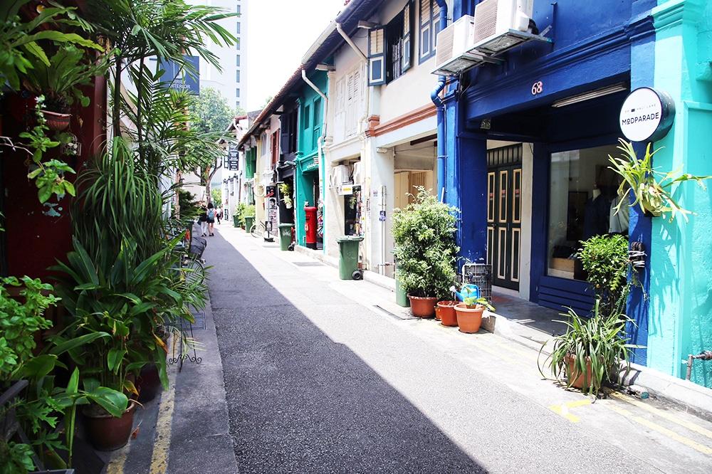 Hajji Lane during Chinese New Year in Singapore