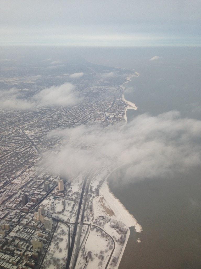 Chicago Winter lakeshore