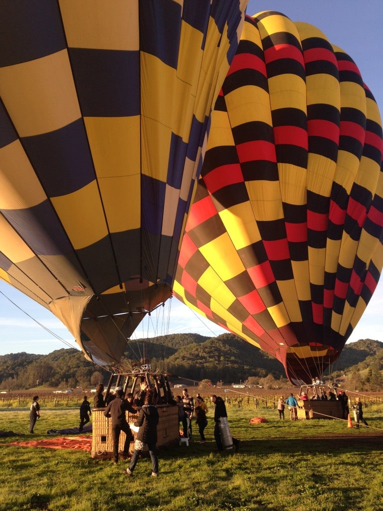 Taking off with Balloons Above Napa