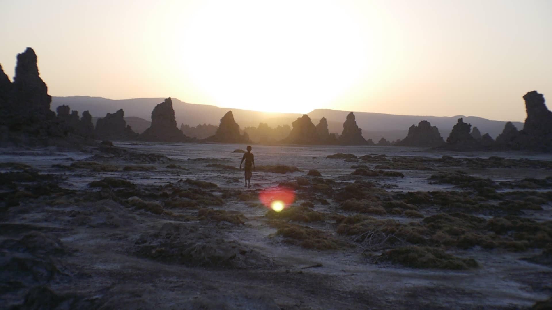 Sunrise on Lake Abbe in Djibouti