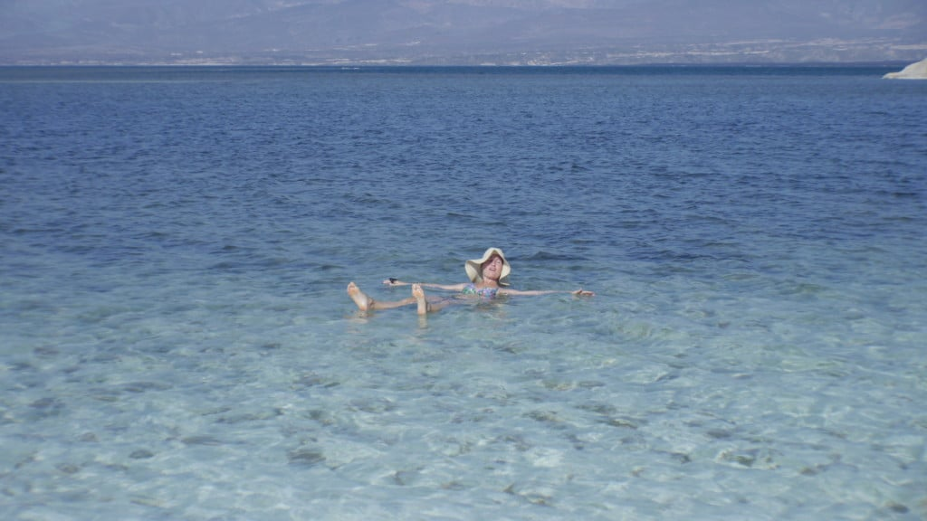 Floating in Lake Assal