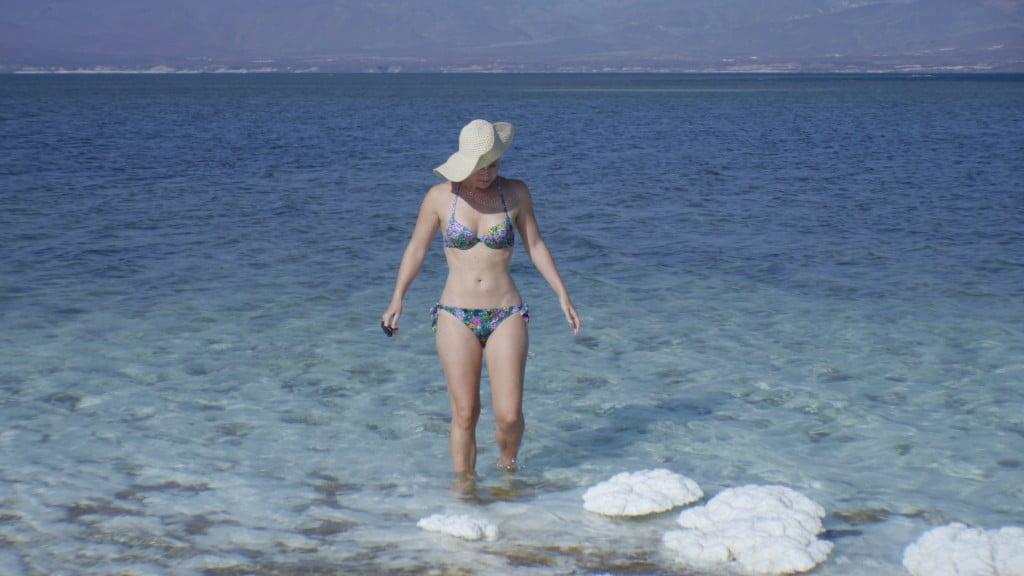Swimming in Lake Assal