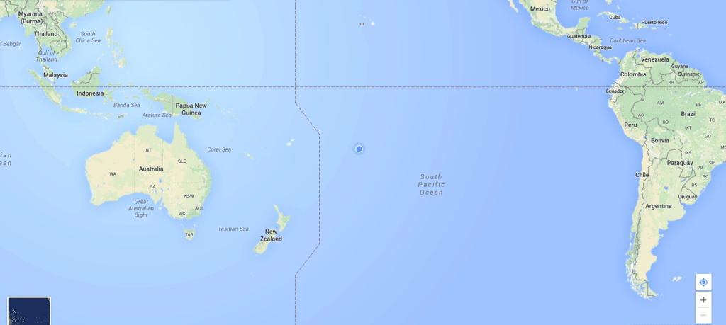 Travel to the Cook Islands on the map
