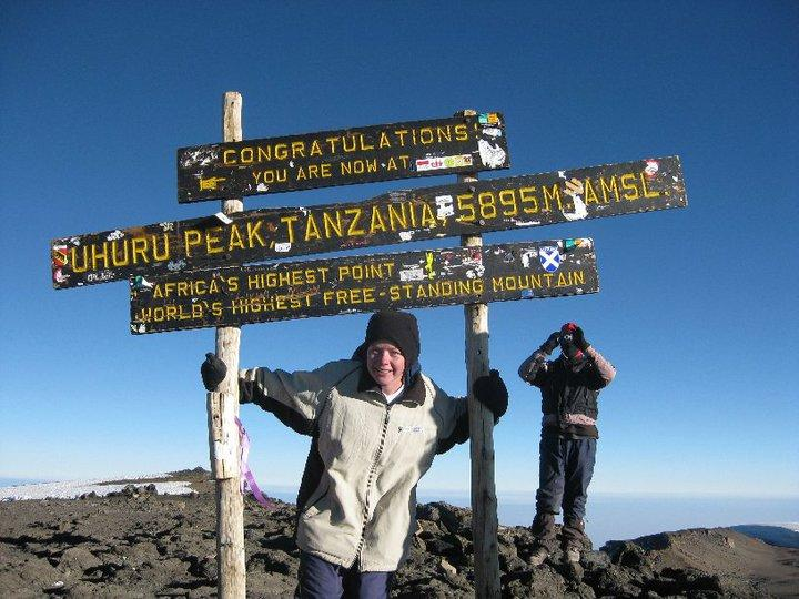 Summiting Kilimanjaro in other people's clothes