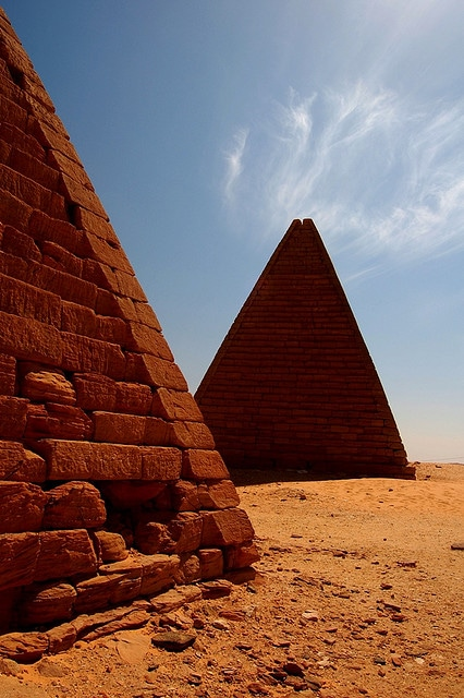 The pyramids in Meroe