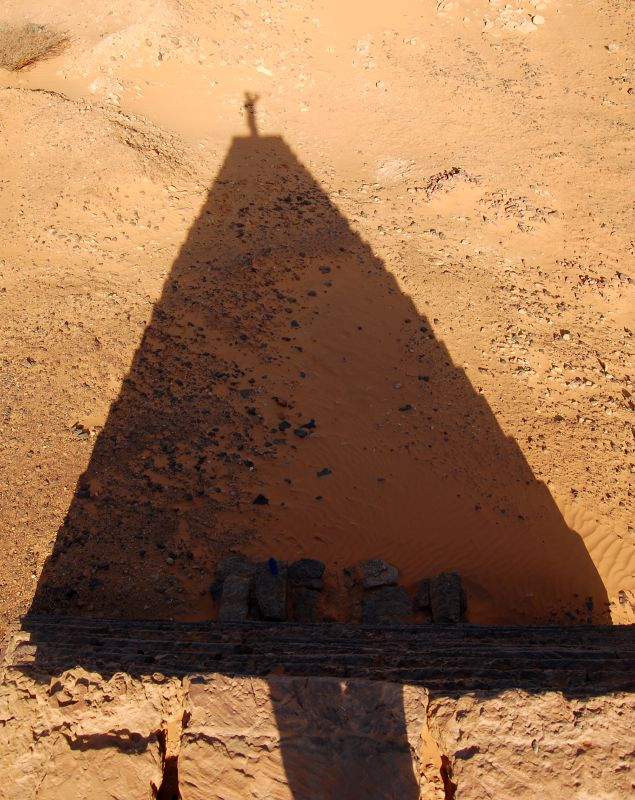 On top of the pyramid - Meroe