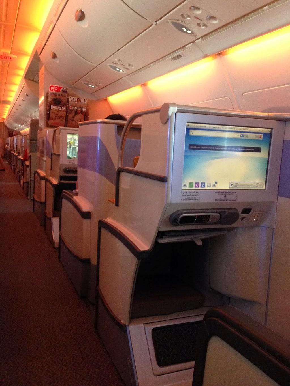 Emirates A380 cabin