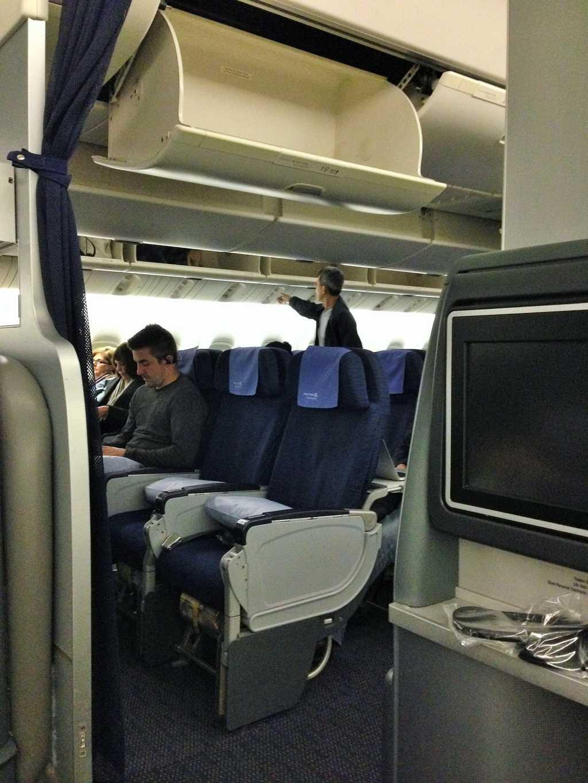 Business seats facing backwards