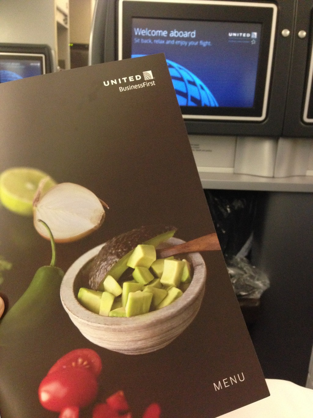 The United Airlines Business Class Menu