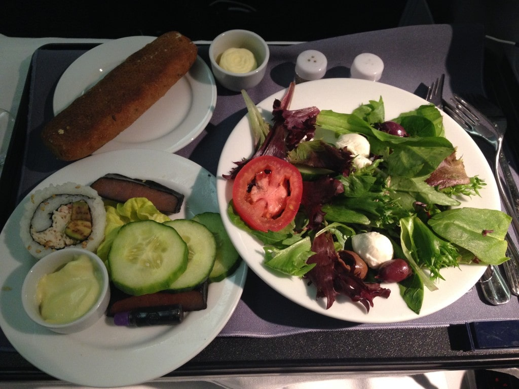 United Airlines Business Class Food