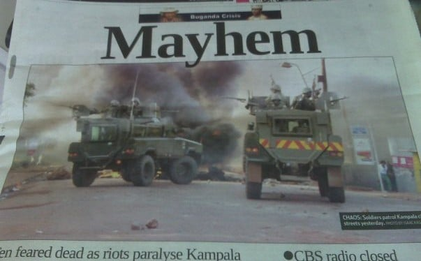 Riots in the newspaper
