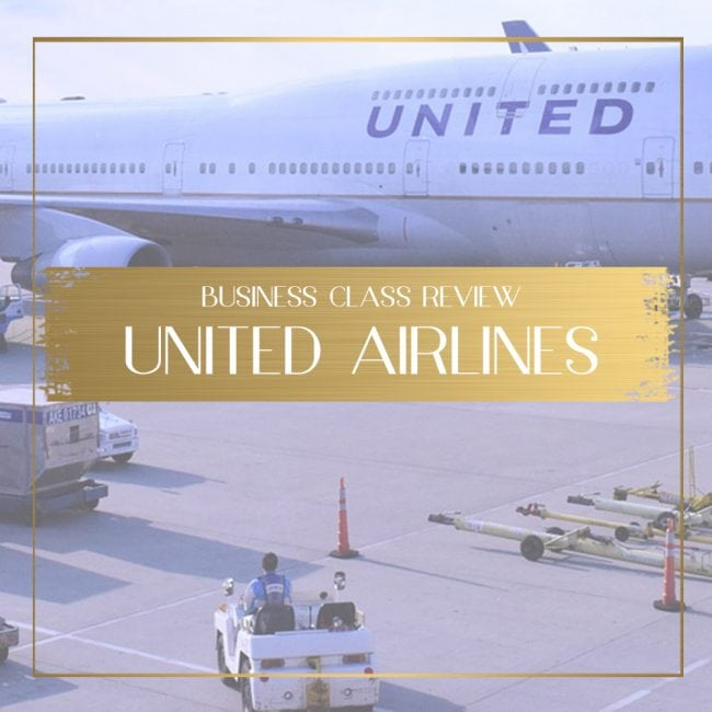 United Airlines Business Class Review feature