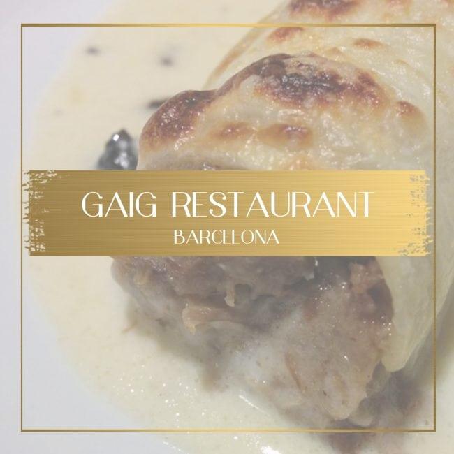 Gaig Restaurant Barcelona feature