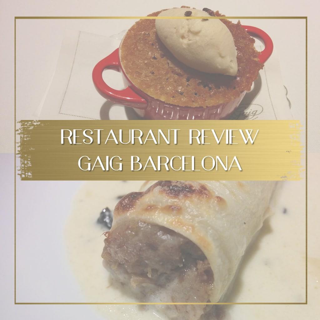 Gaig restaurant review feature