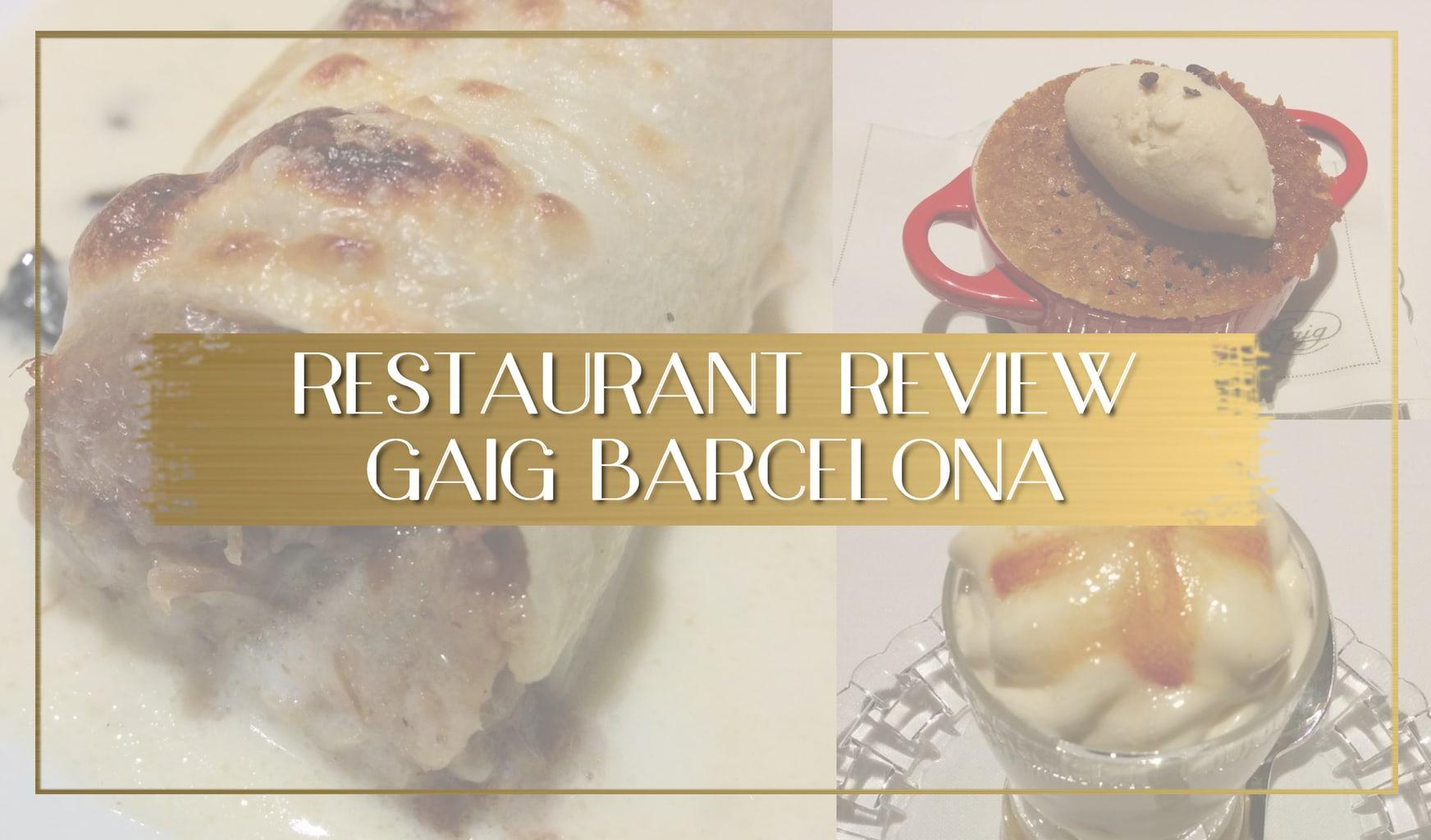 Gaig restaurant review main