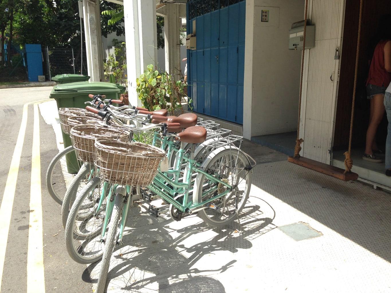 Bikes for rent at Plain Vanilla