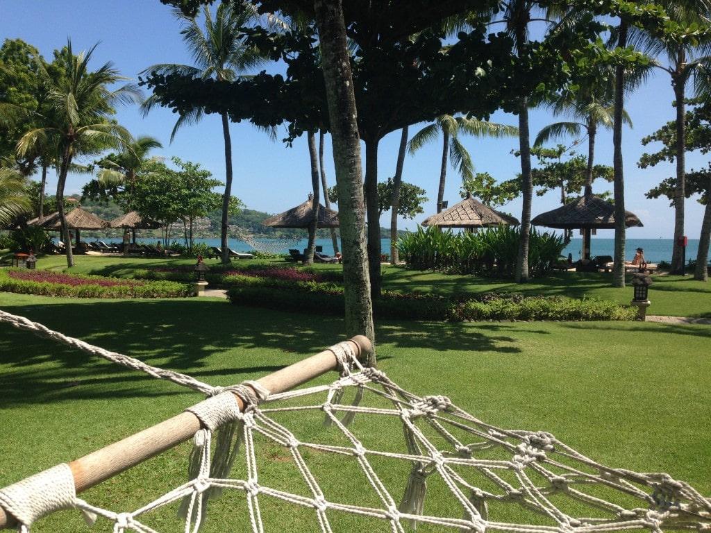 Hammocks at the Intercontinental Resort Bali