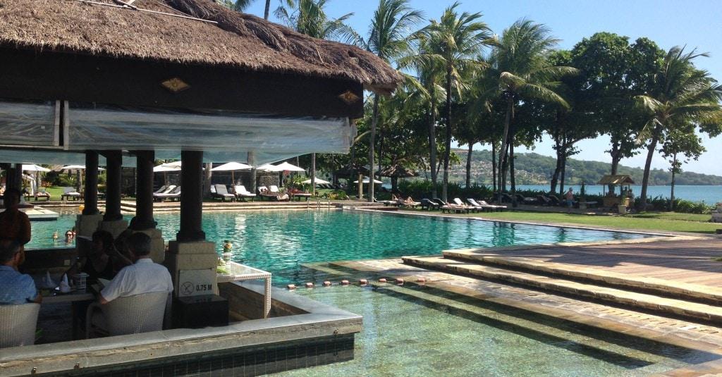 Main pool and restaurant