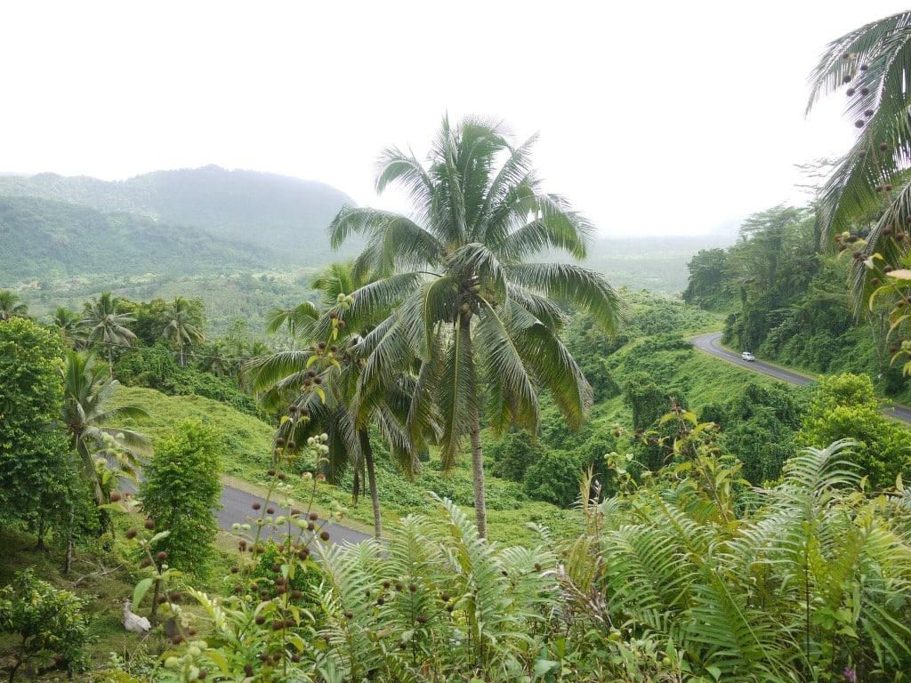 Lush interior of Samoa