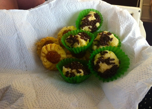 The home made treats that Laura was offered