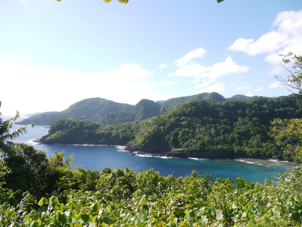 American Samoa rugged coast