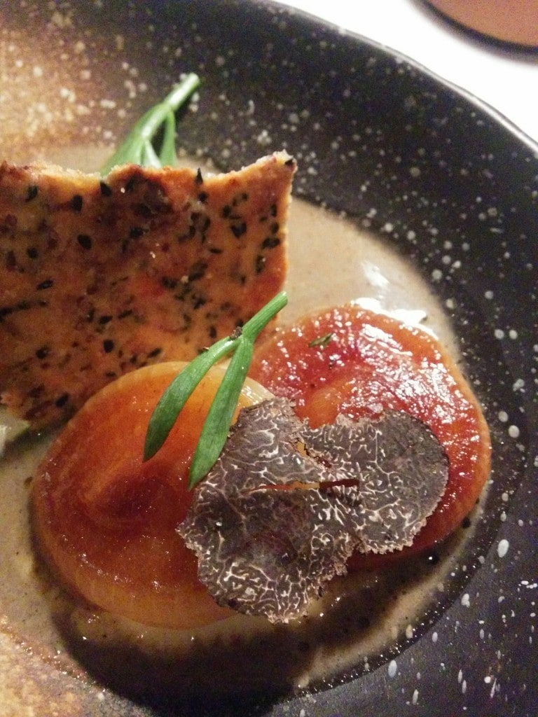 Caramelised cipollini onions with truffle and parsley