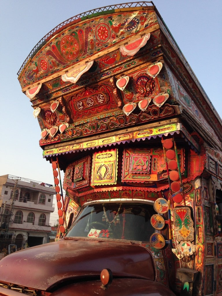Colorfully decorated truck