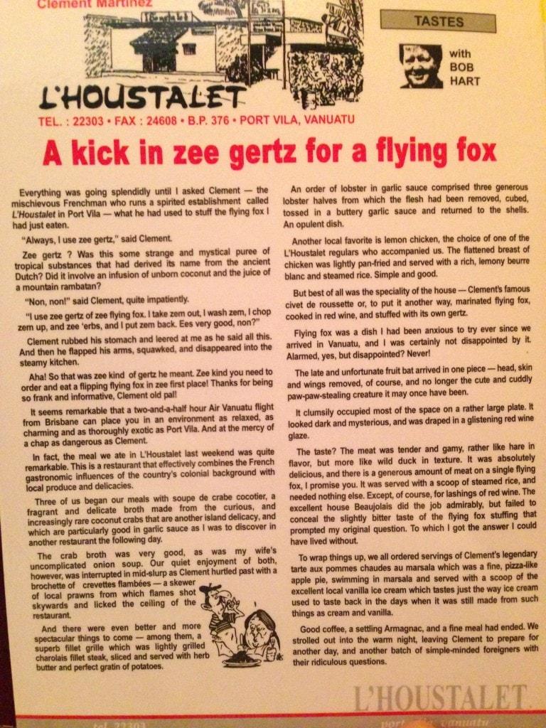 Flying fox stuffing