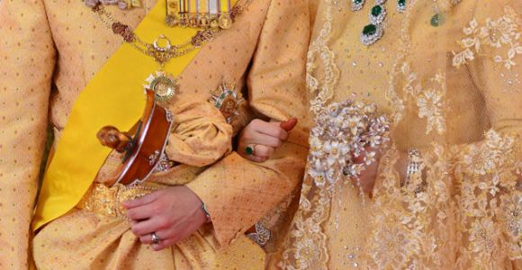 The Sultan's son and his bride on the wedding day